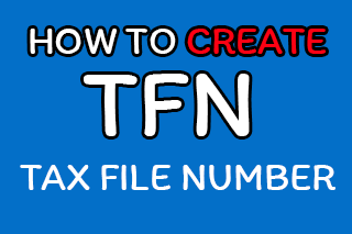 สอนการสมัคร Tax File Number